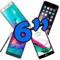 móviles grandes de 6 pulgadas