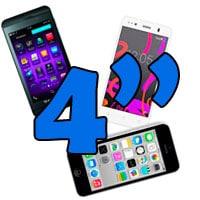 móviles de 4 pulgadas