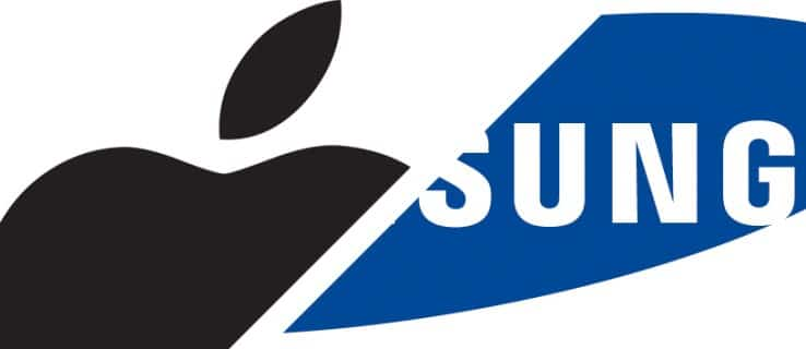 Logos de Apple y Samsung